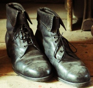 Dirty Leather Shoes